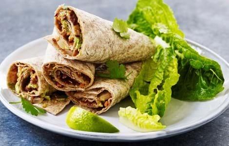 Tortillas med mexicansk kødsovs