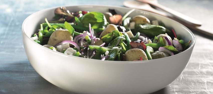 Sommersalat med salte kartofler