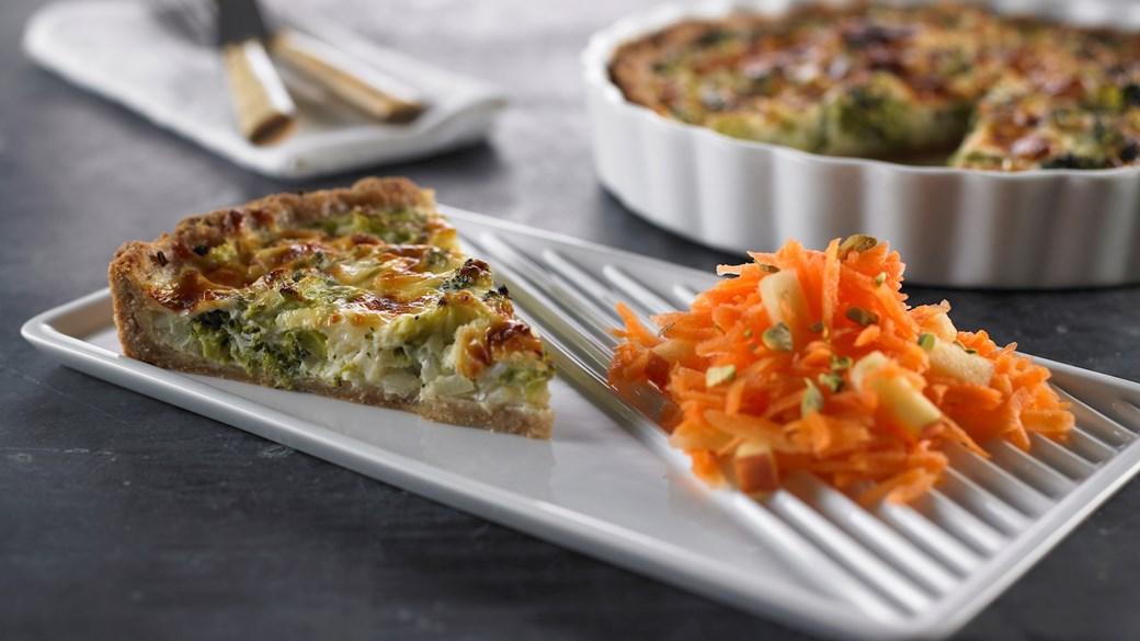 Broccolitærte med løg