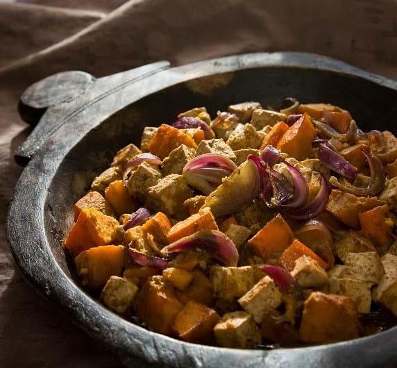 Tofu og græskar bagt i krydret miso (Lisbeth Tordendahl)