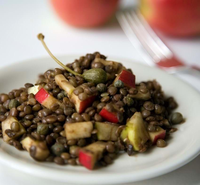 Linse-æble salat med kapers (Lisbeth Tordendahl)