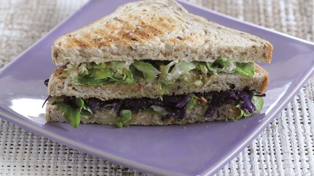 Sandwich med to slags kål