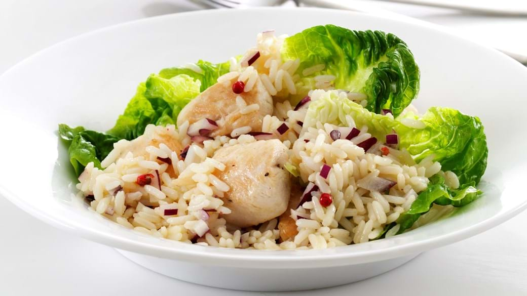 Kyllingesalat med ris