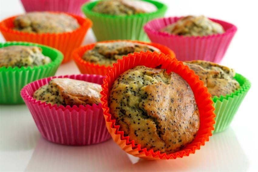 Muffins med banan og birkes