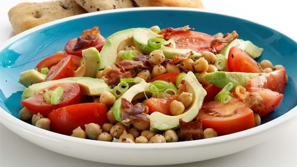 Avocado og kikærtesalat