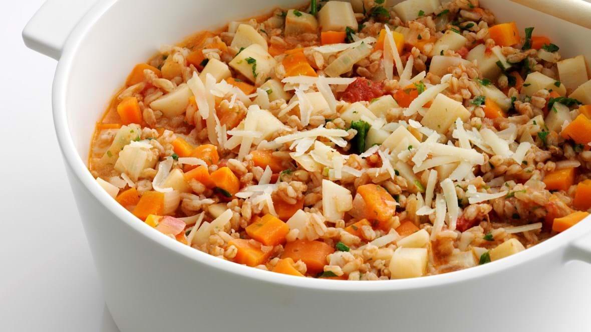 Korn-otto med tomat og grøntsager