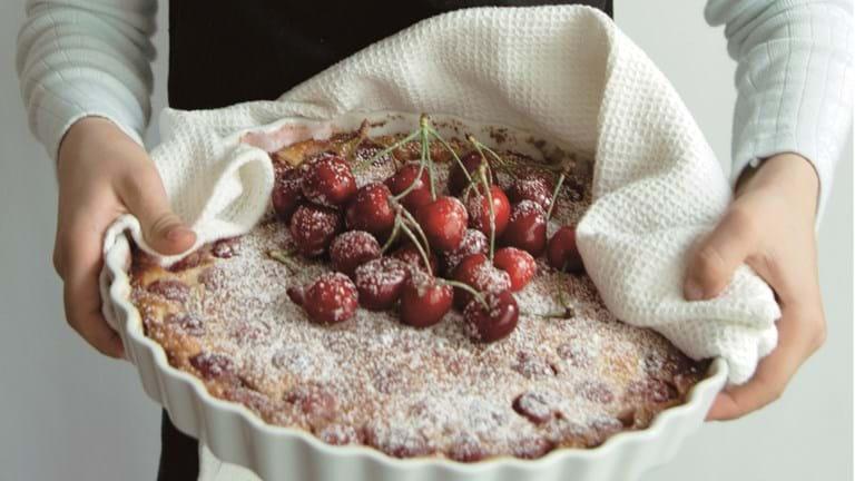 Clafoutis med kirsebær