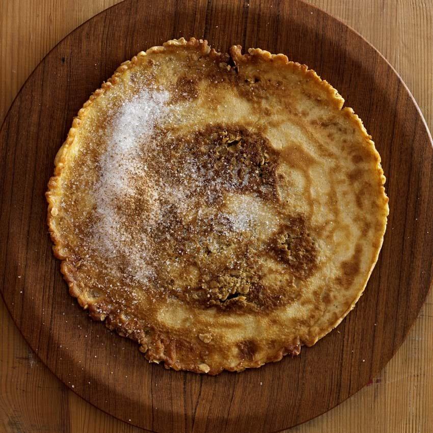 Havrepandekager med kanel og sukker