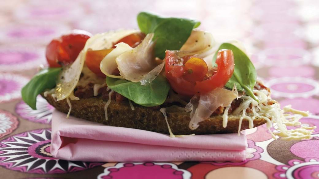 Gratineret sandwich