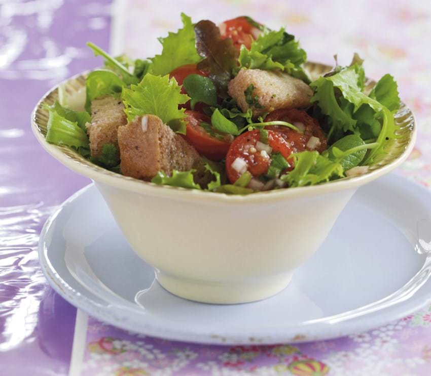 Grøn salat a la Panzanella