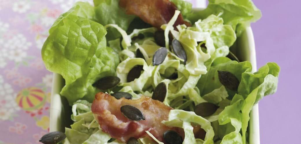 Coleslaw med grønt og bacon