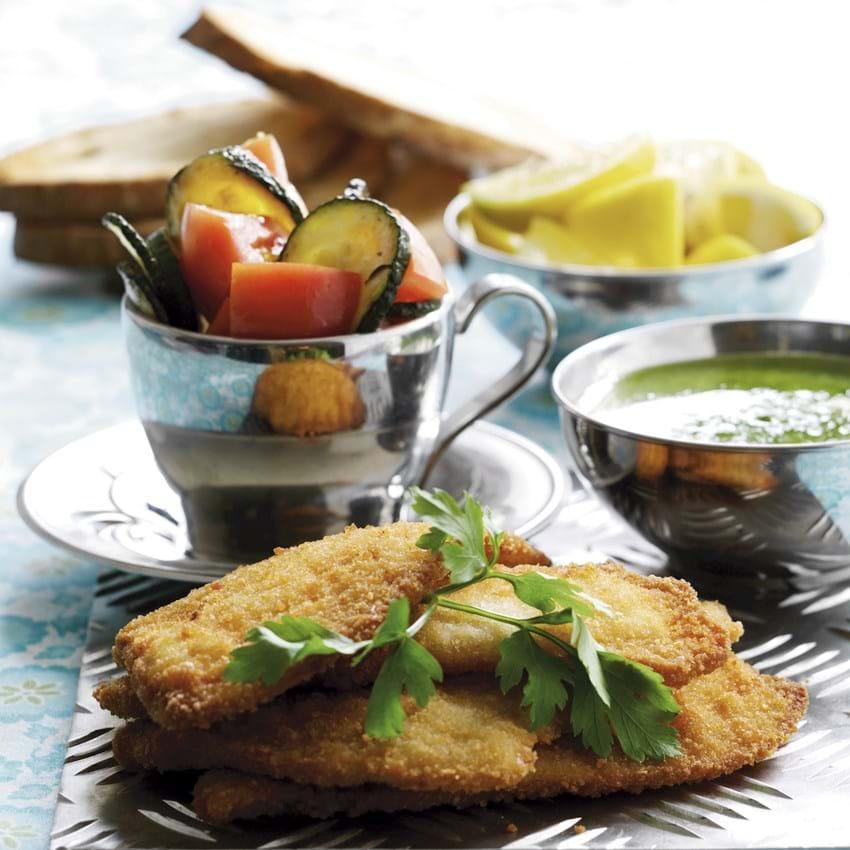 Bruschetta med fisk og andet