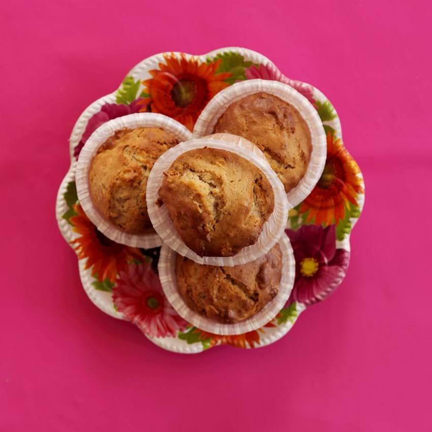 Miksmuffin med æble og fuldkorn
