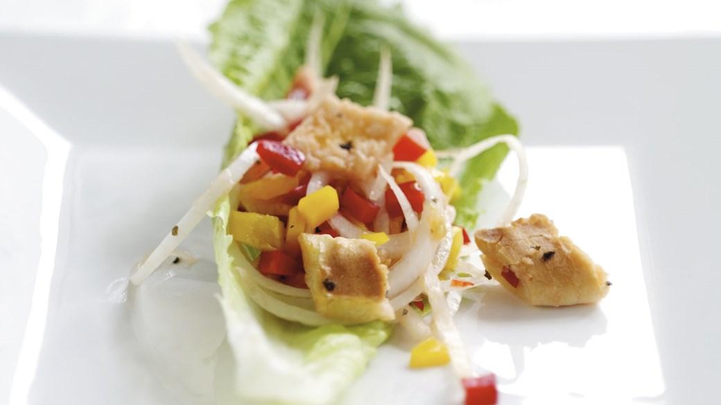 Salat med ristet pitabrød