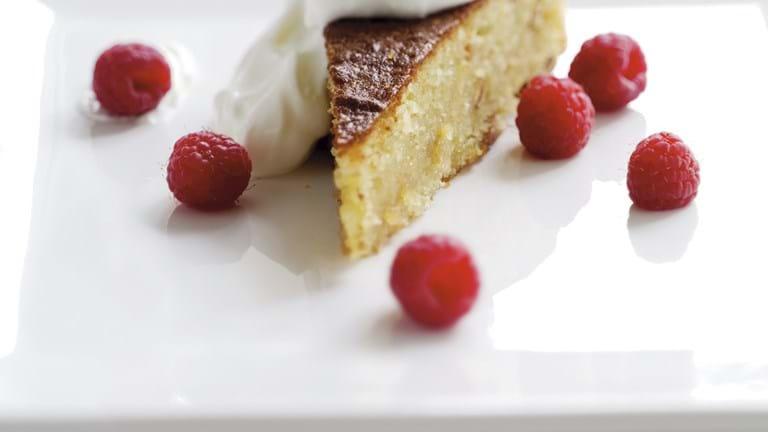 Dessert med pinjekerner