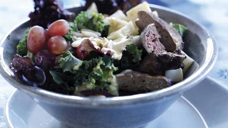 Salat med stegt andelever