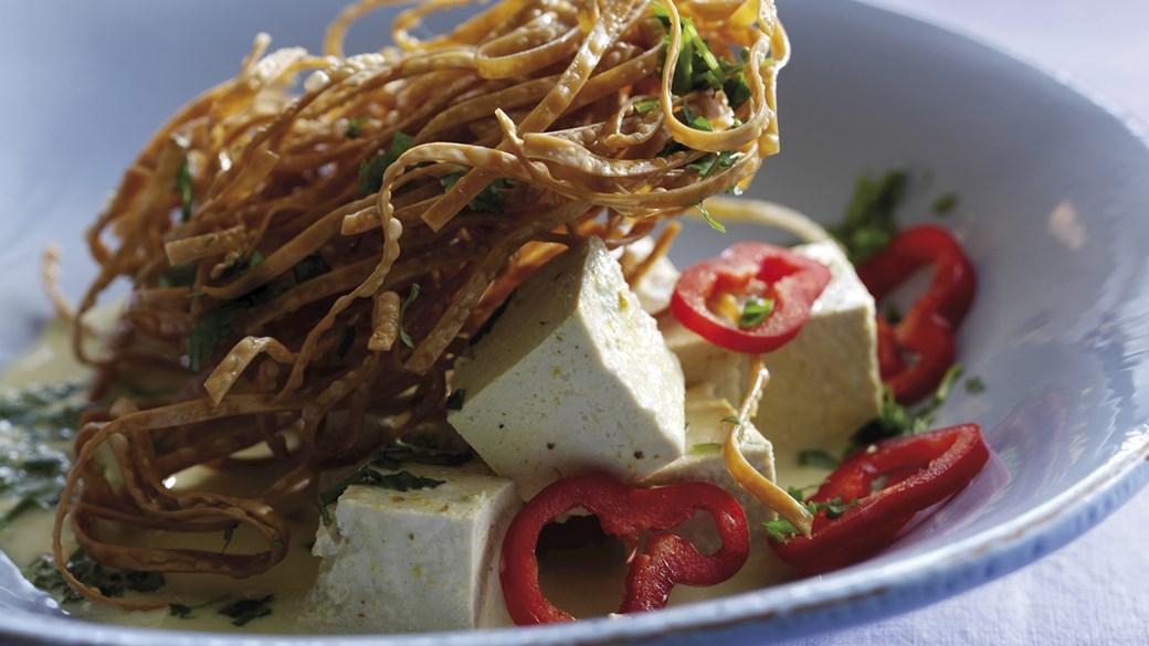Blød tofu i kokosmælk