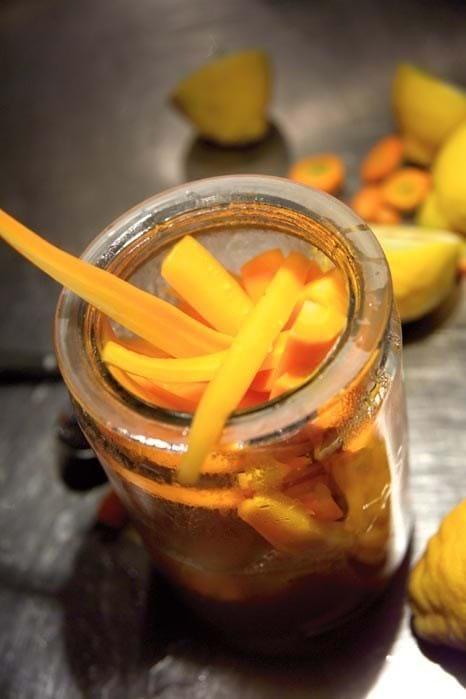 Citronsyltede gulerødder