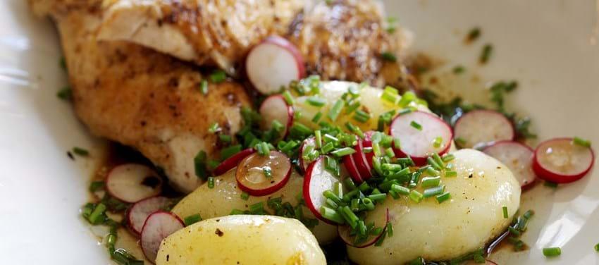 Grydestegt kylling med citrontimian
