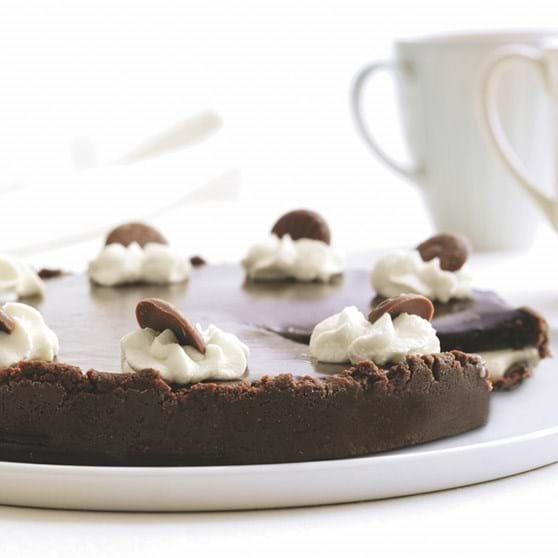 Karamel- og chokoladekage