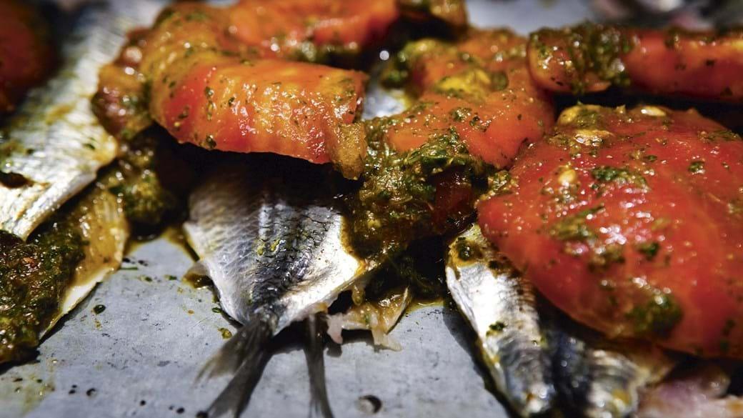 Sardiner med chermoula