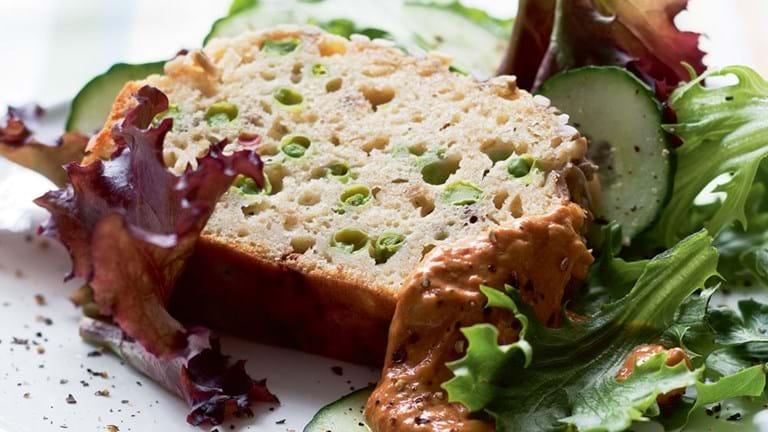 Sandwichbrød med ærter og ost