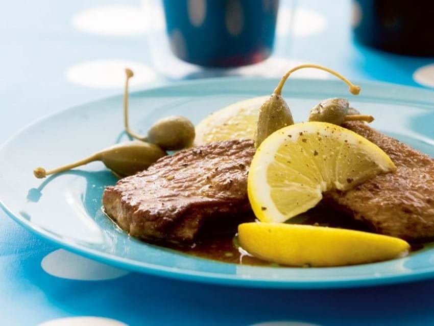 Kalveschnitzel i citron- og marsala-sky