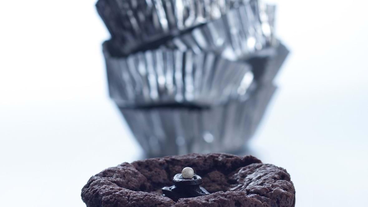 Julekrydret chokolademuffin