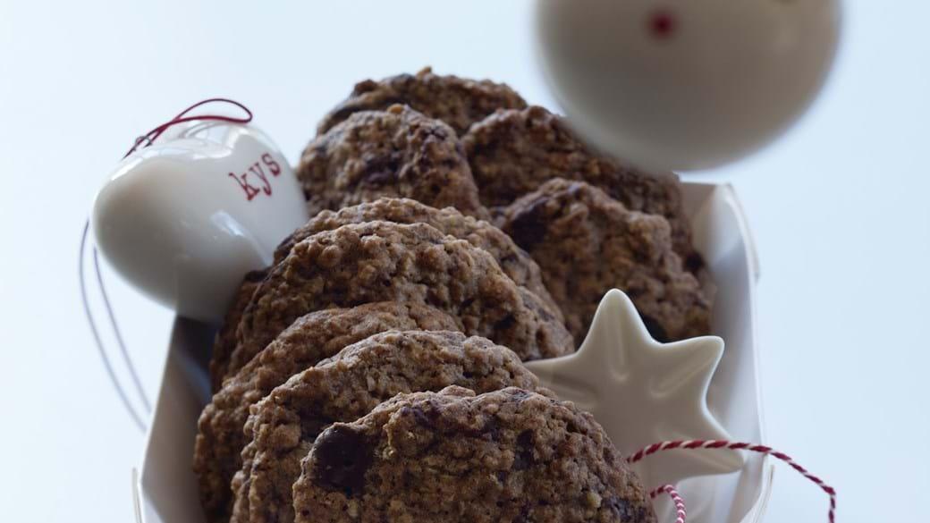 Cookie med chokolade og kanel