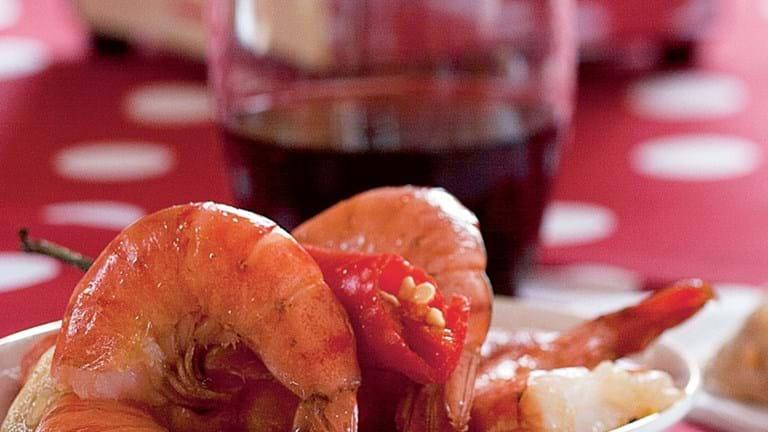 Chili og hvidløgsrejer