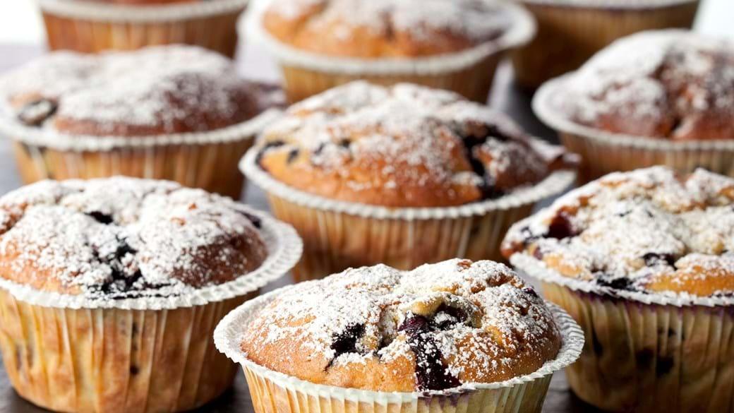 Græskarmuffins med blåbær