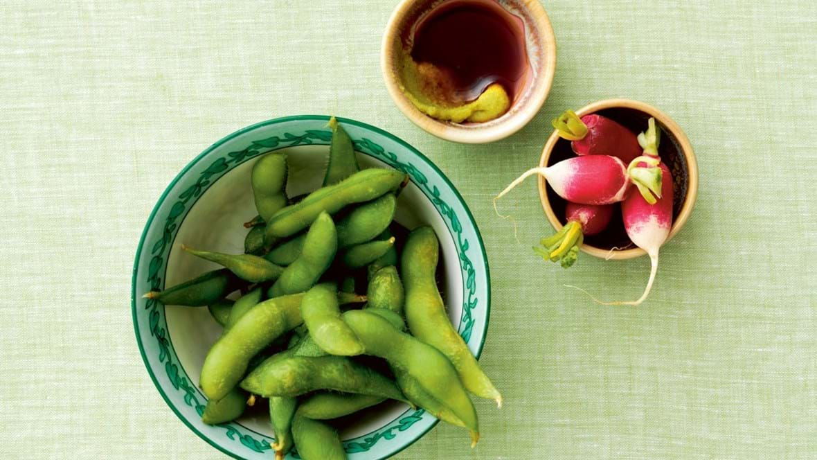 Edamamebønner med wasabimarinade