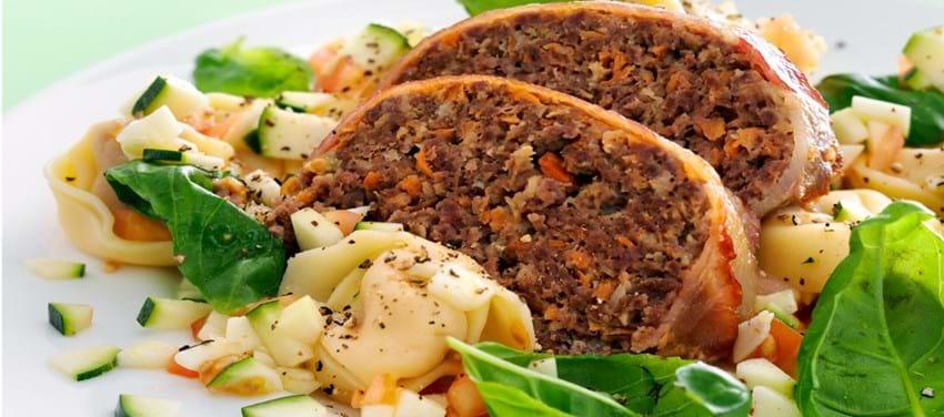 Farsbrød med tortellinisalat