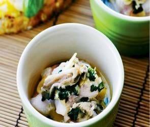 Havtaske og østers bagt i cocotter