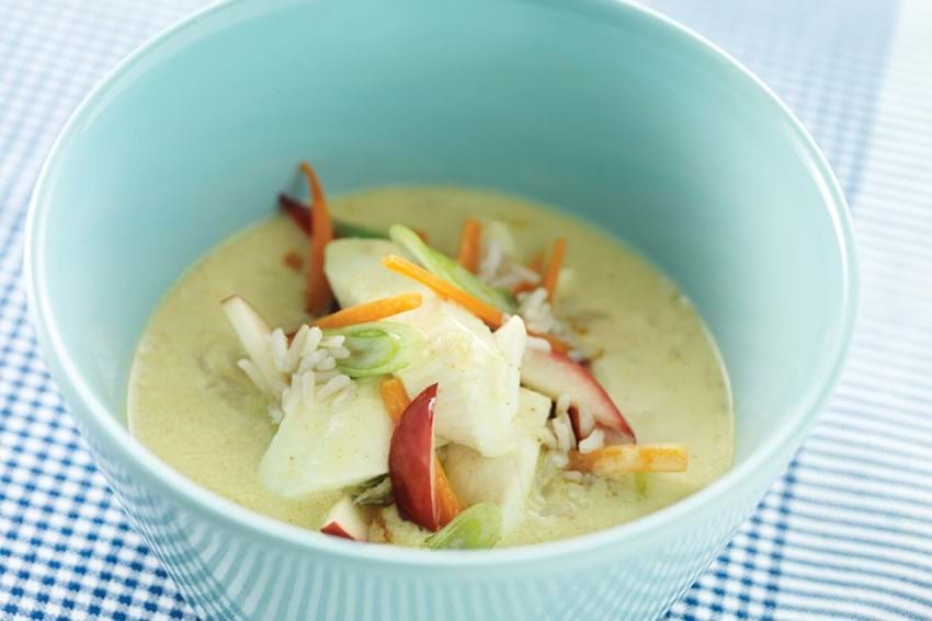 Fyldig suppe med ising