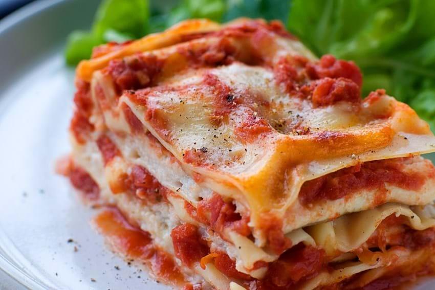 Lasagne med ising