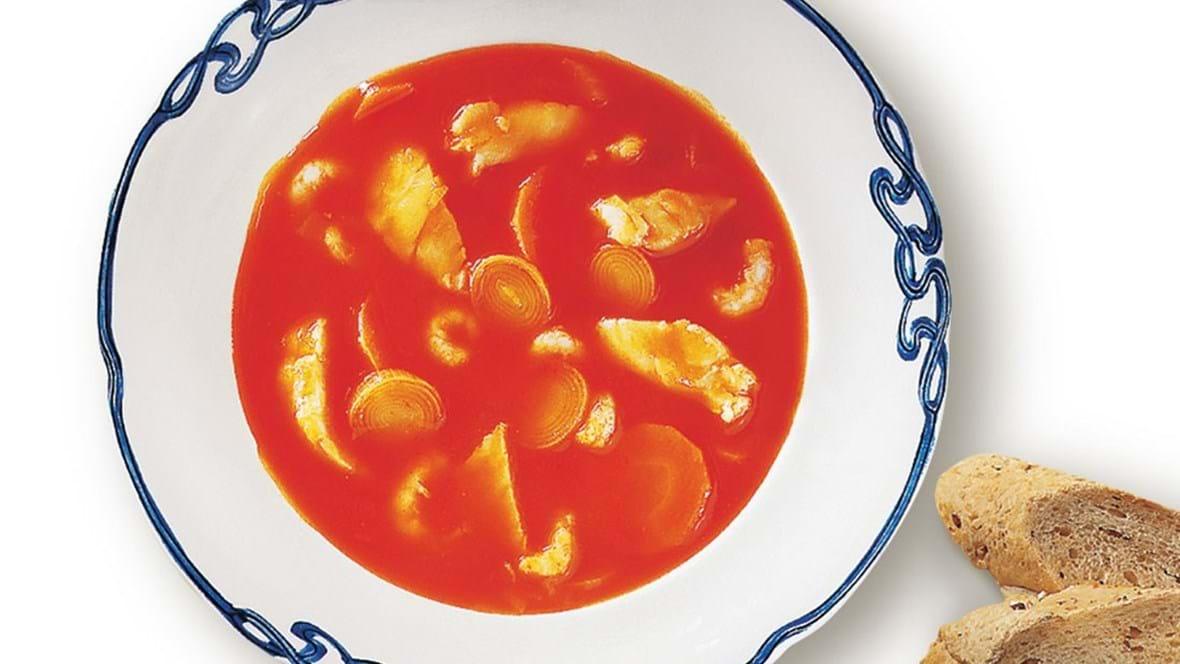 Rød fiskesuppe