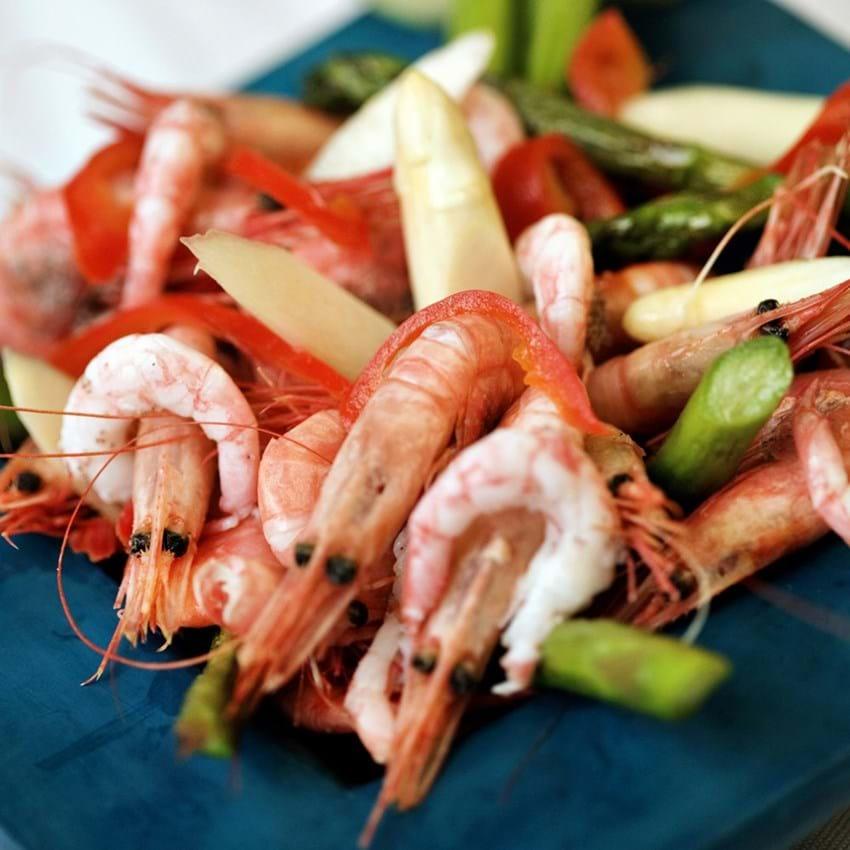 Gourmetrejer med asparges, melon og syltet chili
