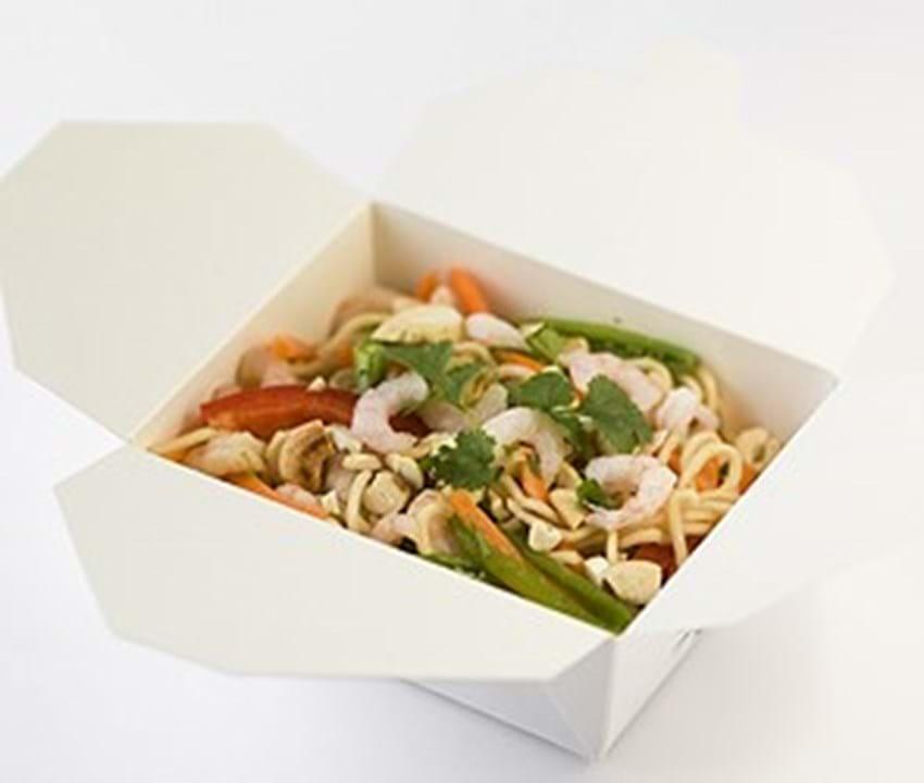 Thai-inspireret nudelsalat med rejer
