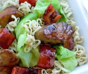 Mørksej i wok med soja og ingefær