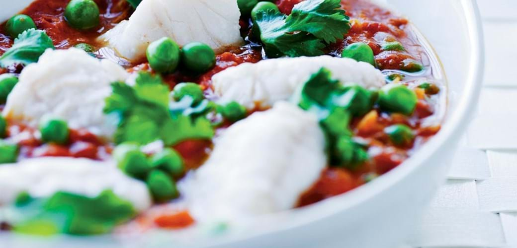 Indisk curry med torsk