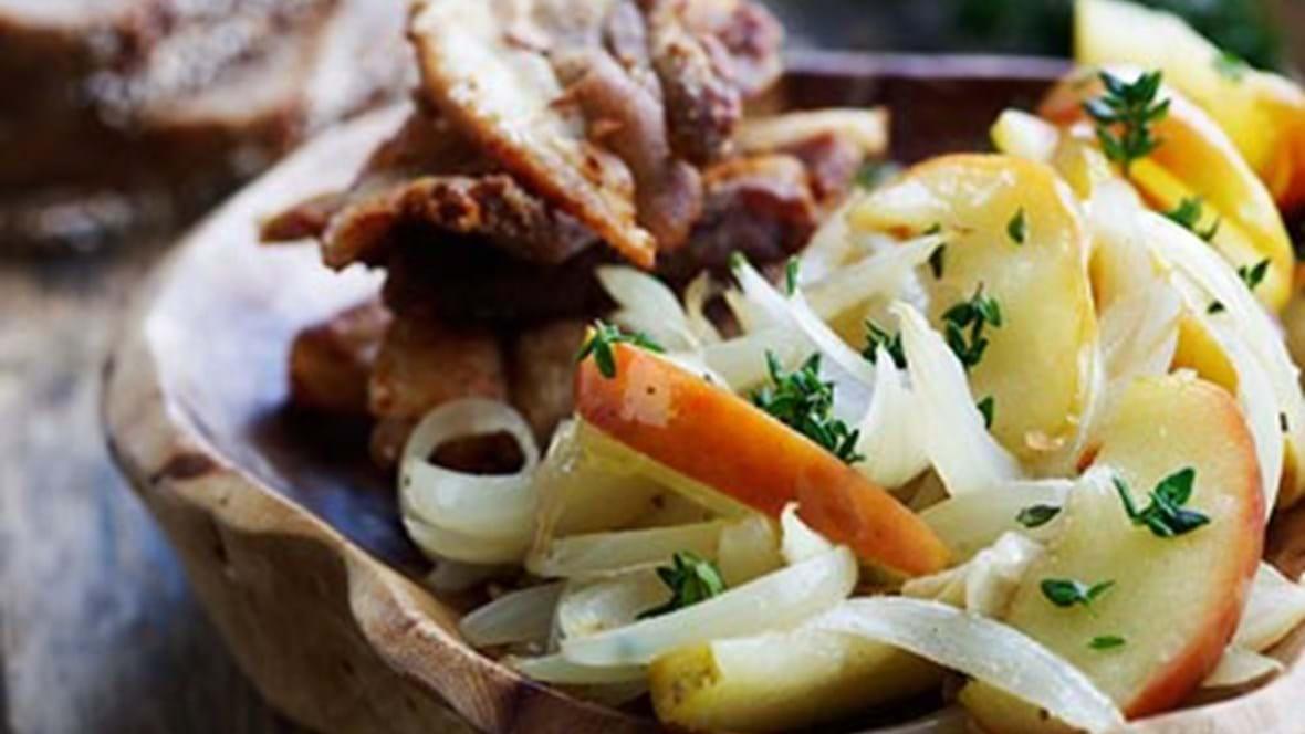 Traditionel opskrift på æbleflæsk