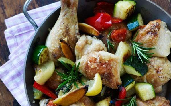 Kylling med rosmarin og citron