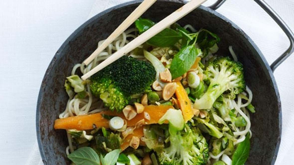 Sommergrønt i wok.