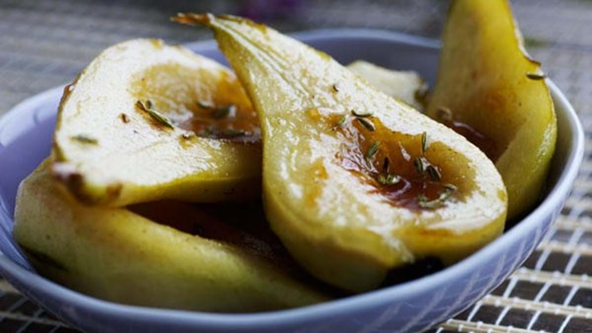 Karamelliserede pærer