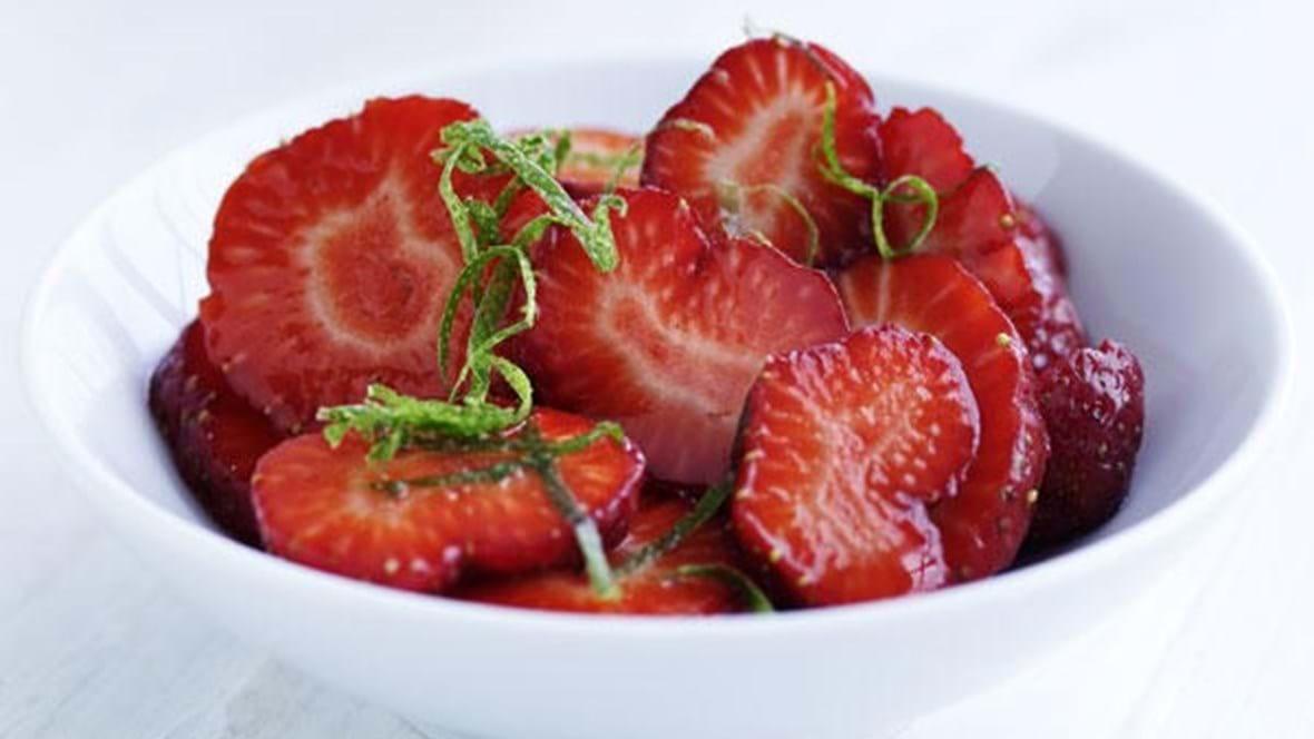 Jordbær med lime