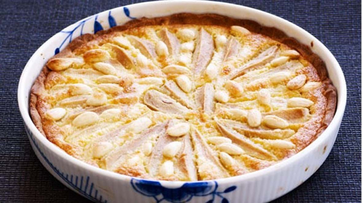 Pæretærte med mazarincreme