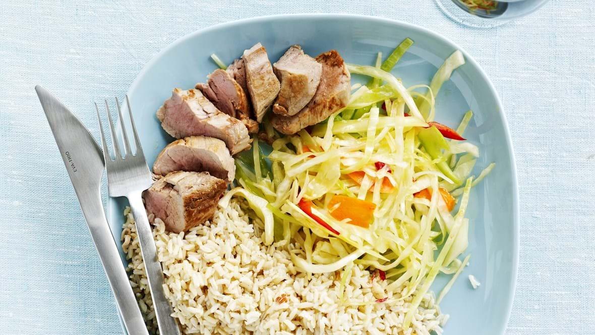Kålsalat med svinemørbrad