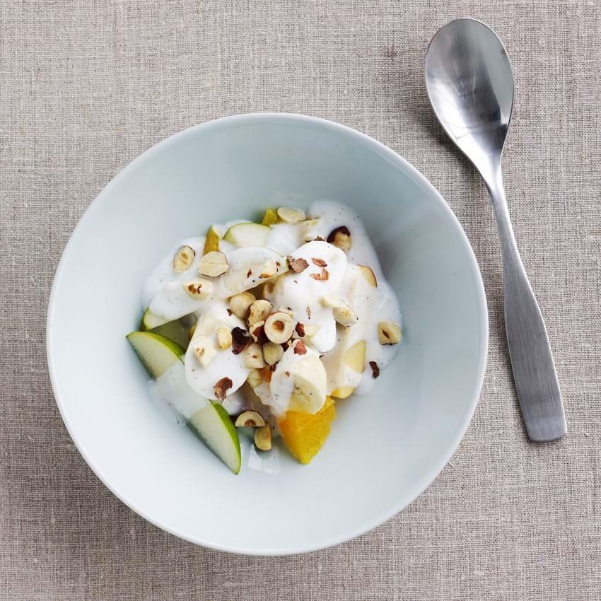 Frugt med vaniljedip