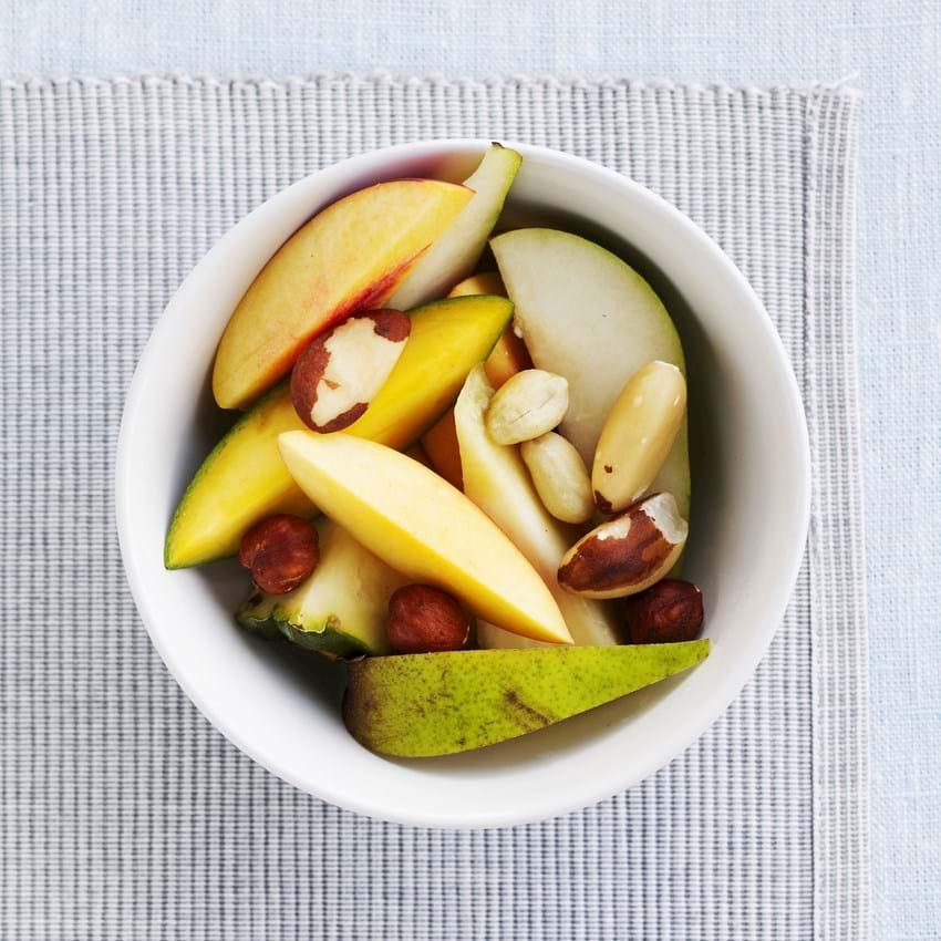 Frisk frugt og nødder